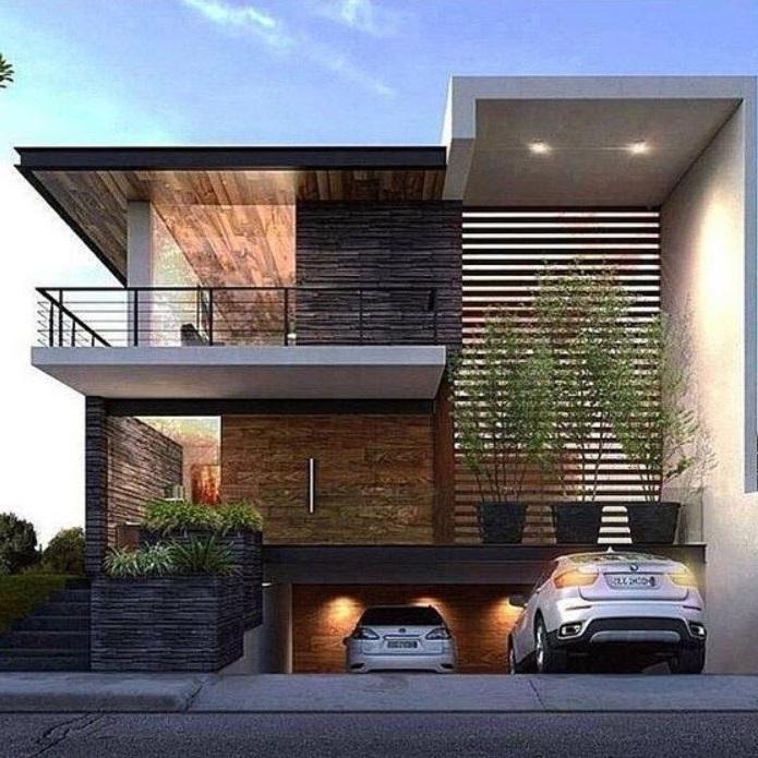 Fachadas de casas con garaje en subsuelo - Fachadas de casas modernas planta baja ...