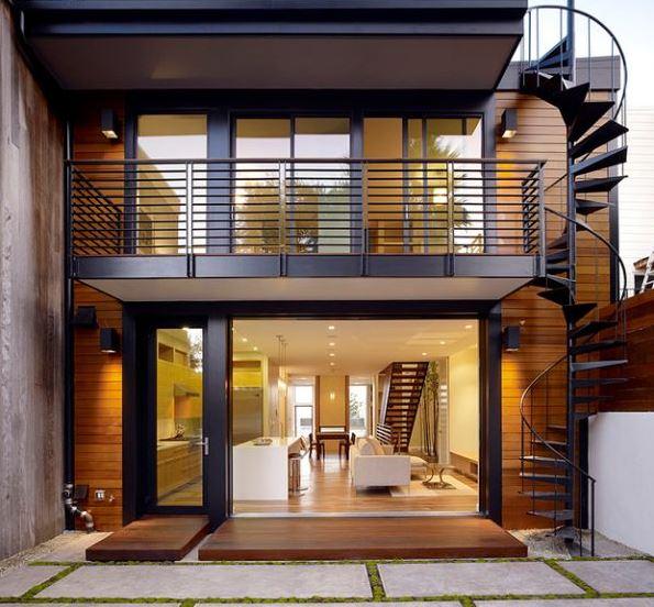 Rejas para balcones fotos for Modelos de fachadas para casas de 2 pisos