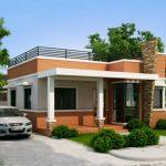 Casa pequeña con terraza