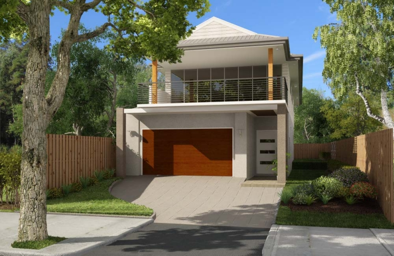 Fachadas de casas sencillas for 2 storey homes designs for small blocks