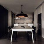 Cocina de cemento alisado