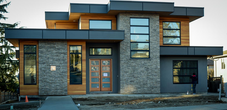 fachadas con piedra natural y revoques