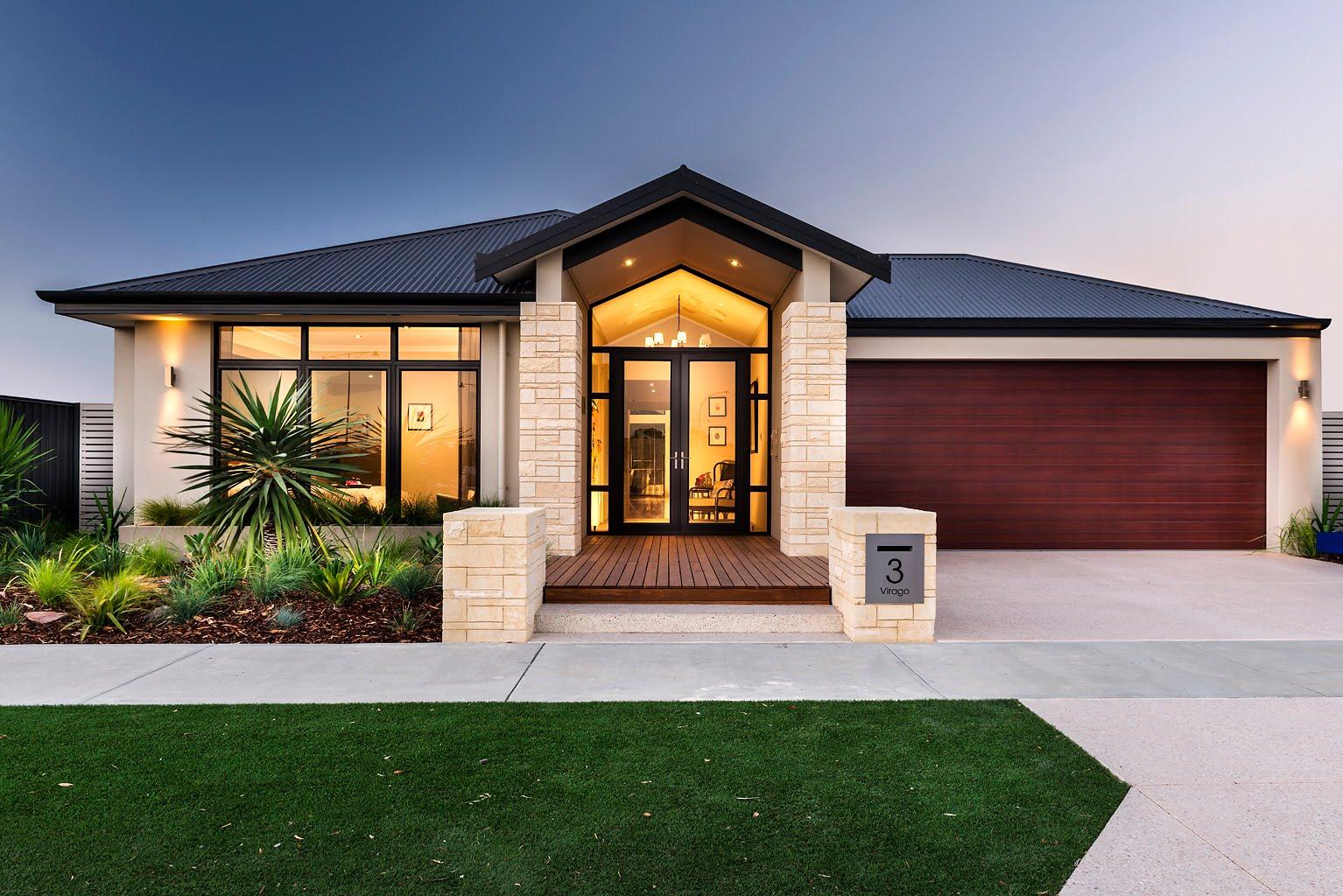Entradas de casas bonitas simple ideas para crear una entrada en una casa donde no hay with - Casa con camino ...