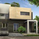 Contrafachada moderna y minimalista for Casas rectangulares