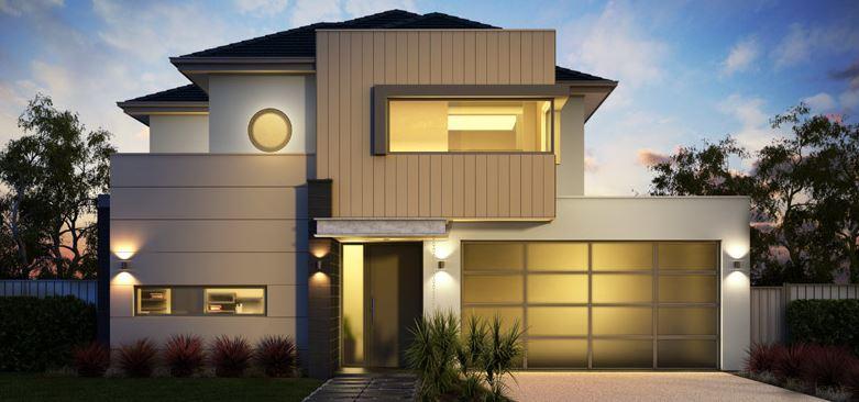Fachadas de casas modernas for Casas rectangulares