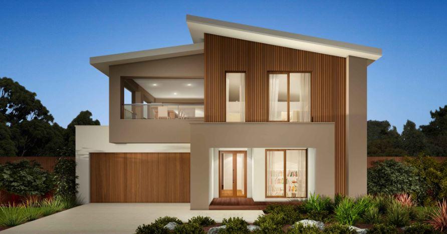 Fachadas de casas con ventanas rectangulares for Casas rectangulares