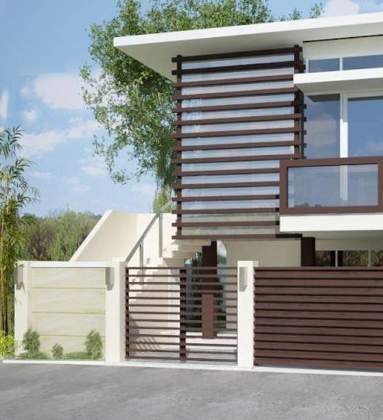 Fachadas de casas modernas for Tipos de escaleras para casas de 2 pisos