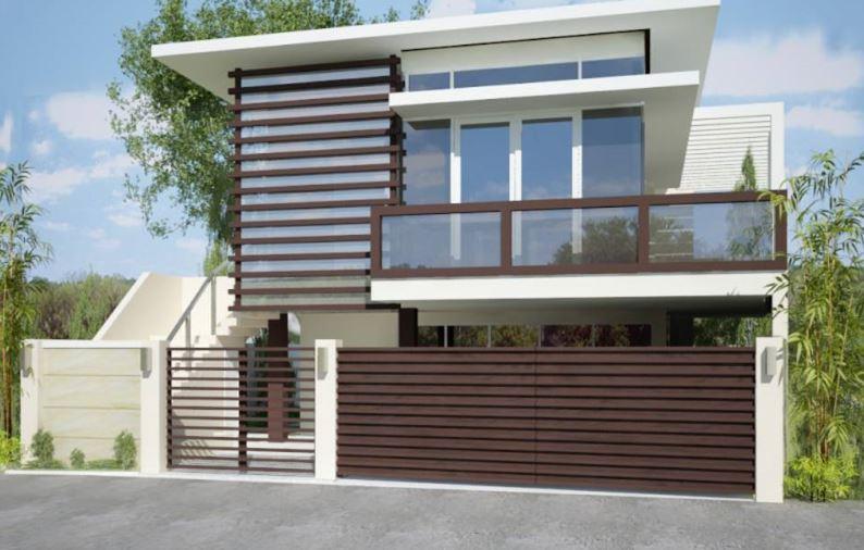 Ver fachadas de casas fachadas de casas estilos de for Casas modernas rectangulares