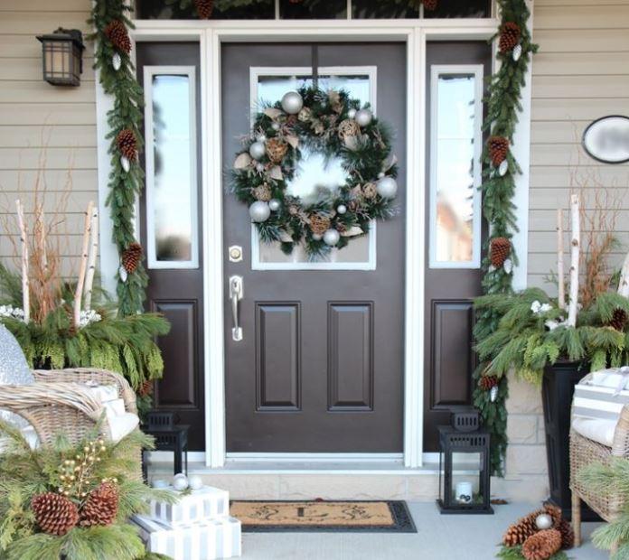 Fachadas decoradas para navidad - Decoracion navidena puertas ...