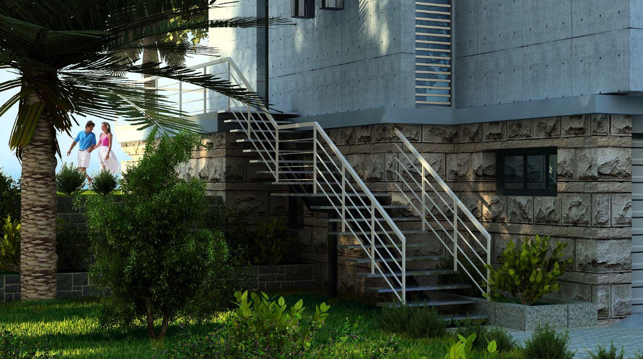 Fachadas de casas modernas for Modelos de escaleras exteriores