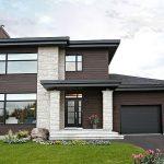Fachadas de casas con puertas negras