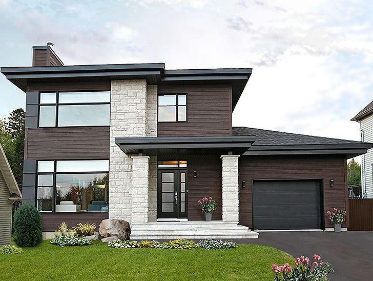 Aberturas para fachadas for Colores para frentes de casas modernas