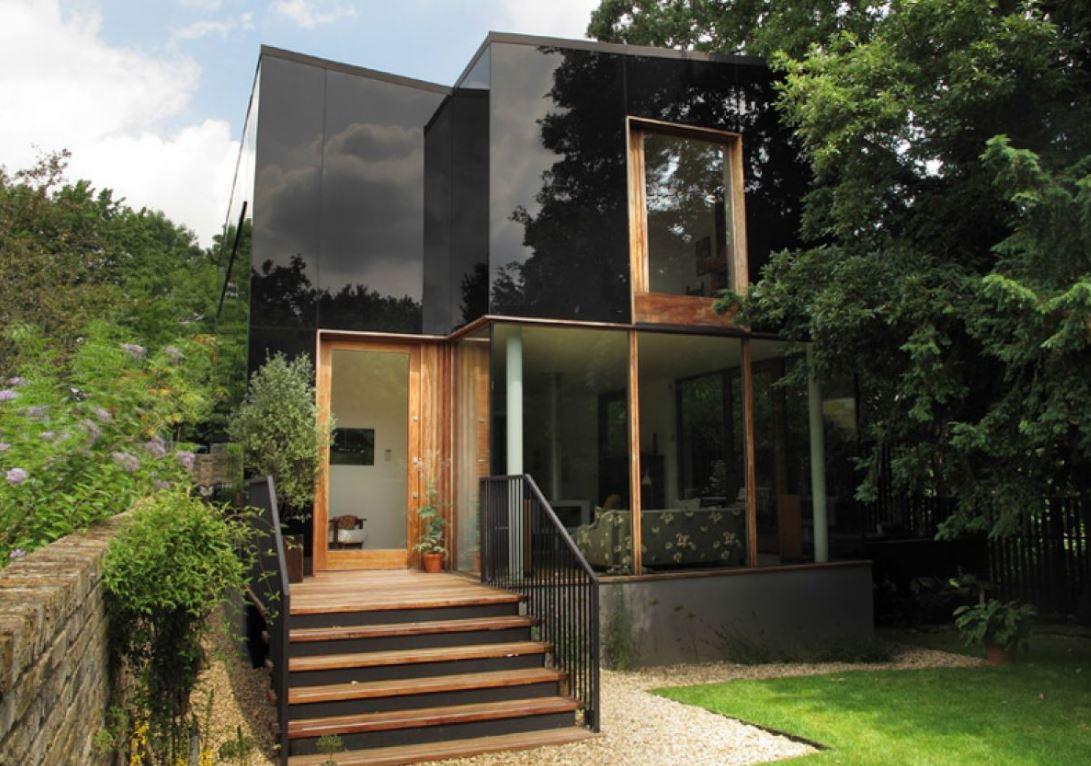 Fachadas de casas con escalera enfrente - Disenos casas de madera ...