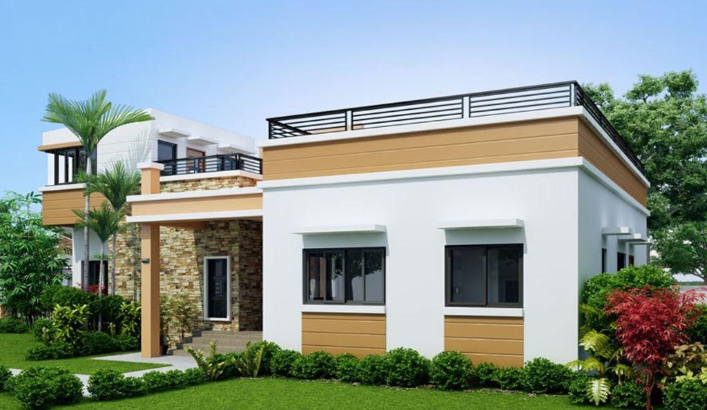 Fachadas de casas de 2 pisos for Modelos de balcones modernos para casas