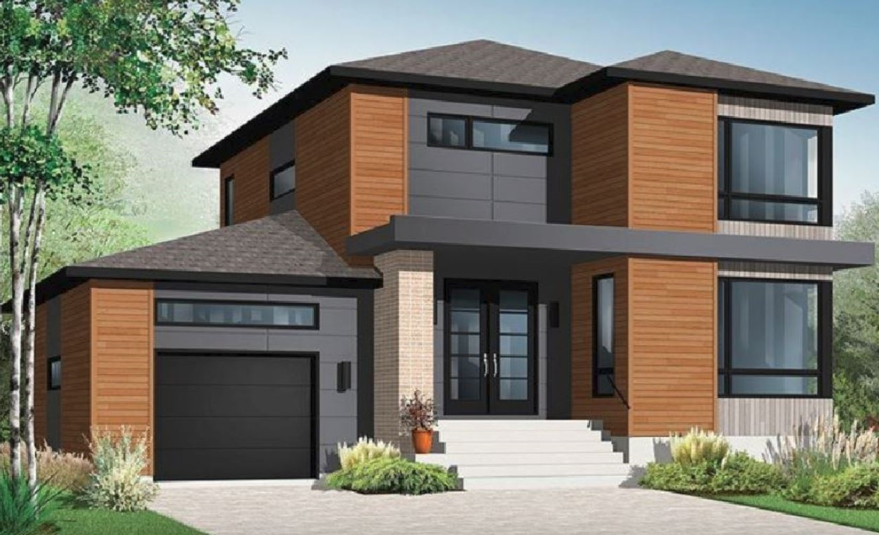 Fachadas de casas de madera for Casas modernas ladrillo