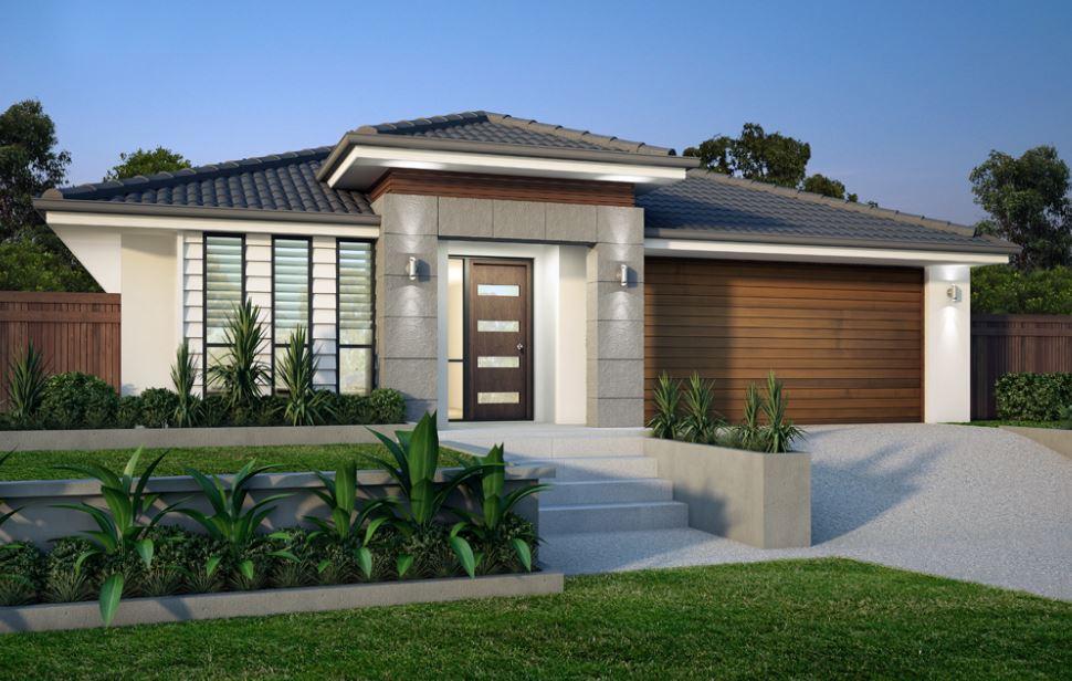 10 hermosas fachadas de casas de una planta for Casas una planta