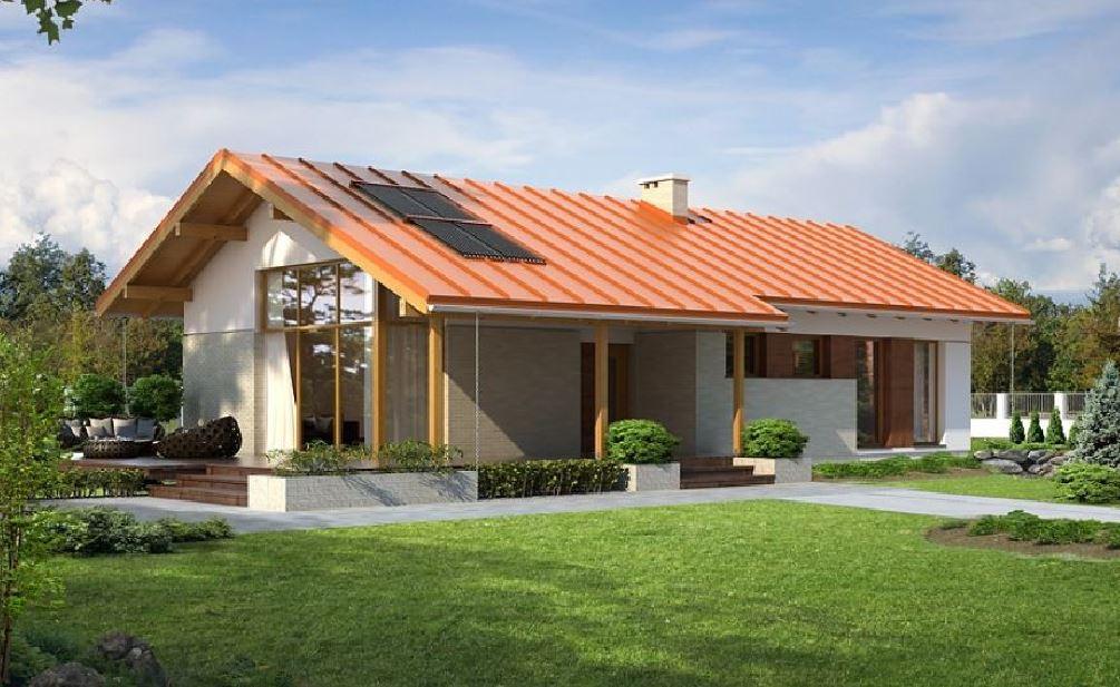Fachadas de casas con techo a dos aguas for Casas estrechas