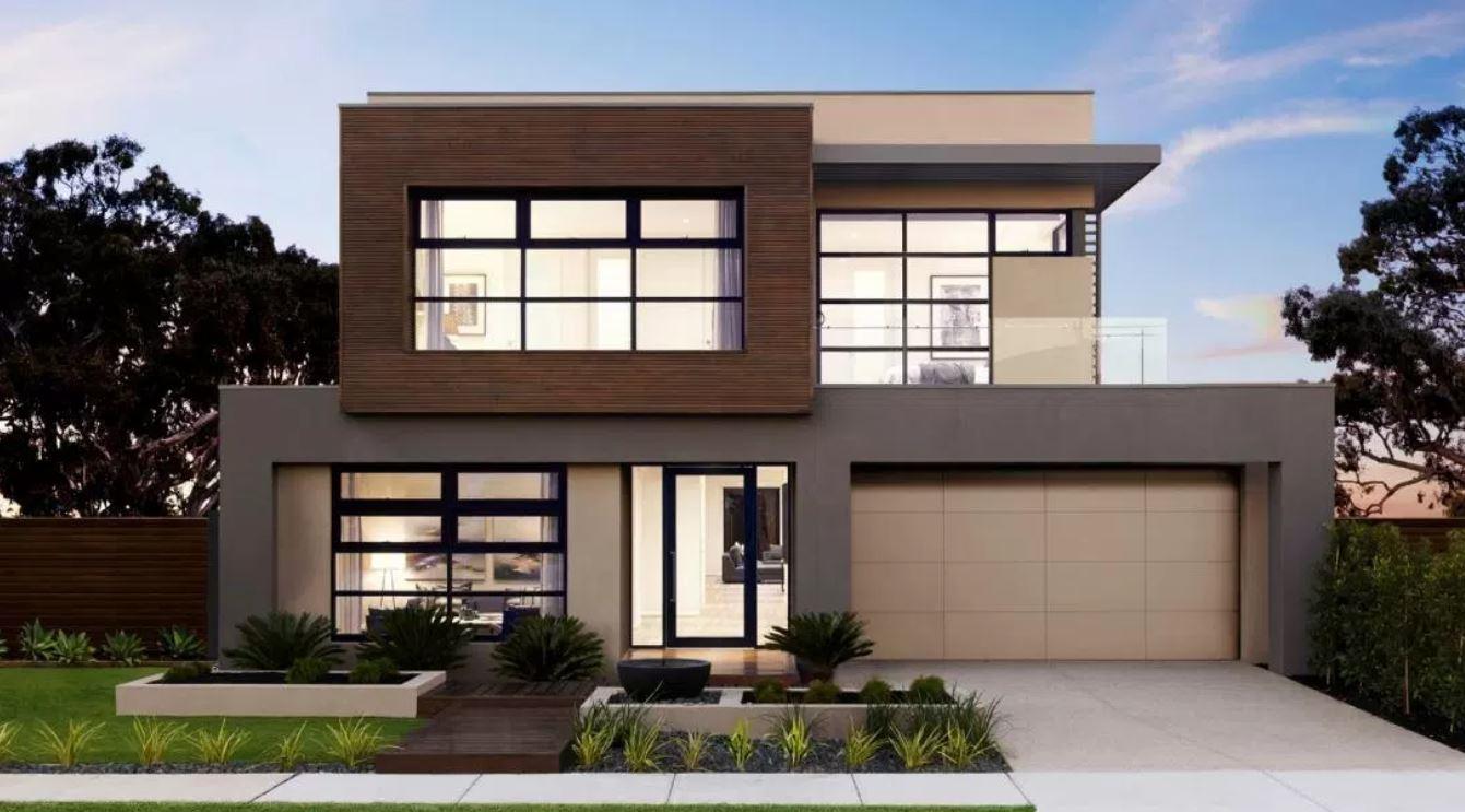 20 fachadas de casas modernas de dos pisos con techo plano for Disenos de fachadas de casas de dos pisos