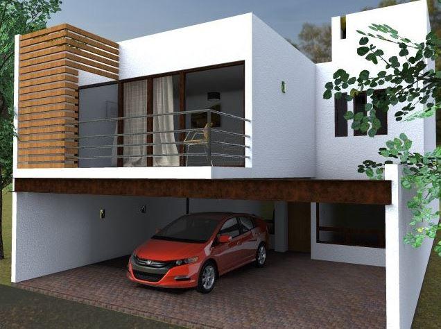 Ver fachadas de casas fachadas de casas estilos de for Planos de casas minimalistas de dos pisos