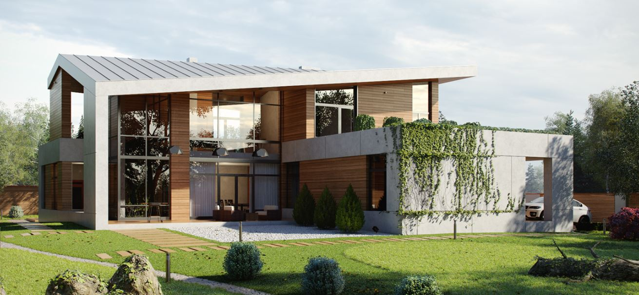 Ver fachadas de casas fachadas de casas estilos de - Casas de madera y cemento ...