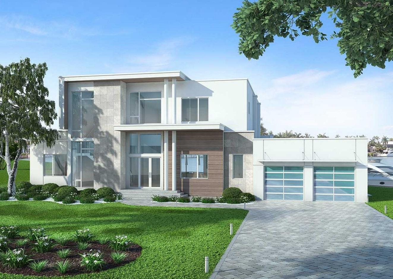 Ver fachadas de casas fachadas de casas estilos de for Techos planos modernos