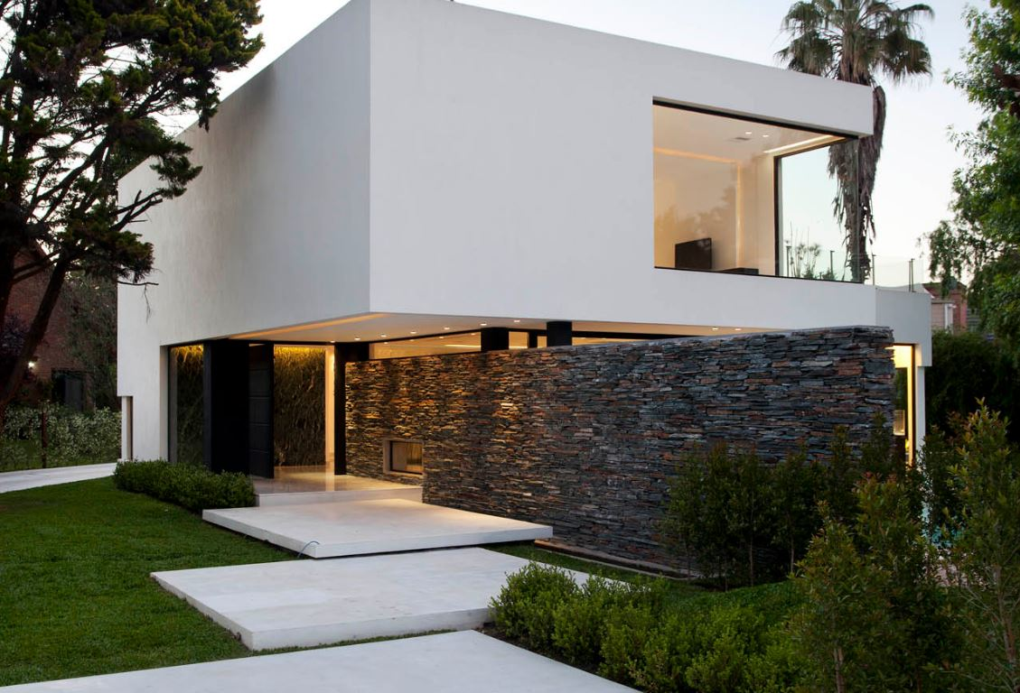 Entradas a casas modernas amazing casas modernas exterior for Fachadas de entradas de casas modernas