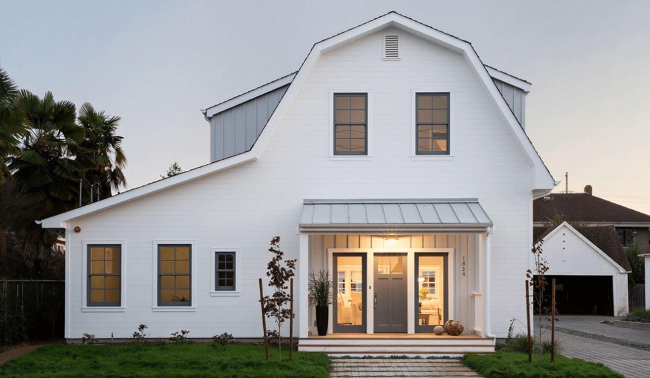 Fachadas de casas de madera pintadas de blanco 20 - Fachadas de casas pintadas ...