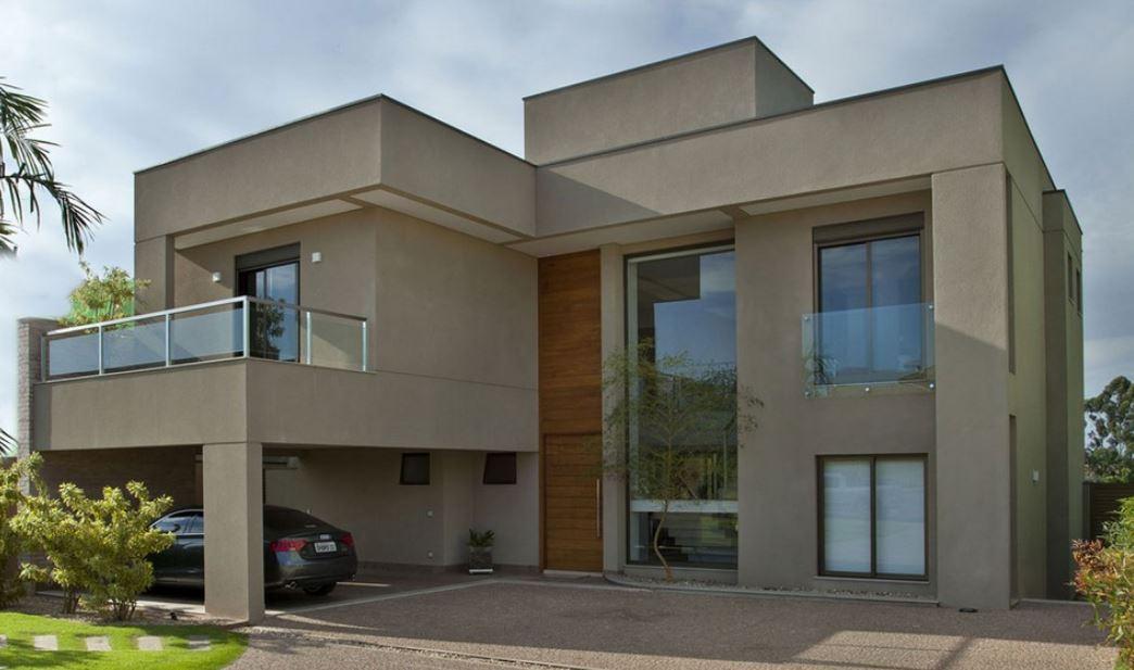 Ver fachadas de casas fachadas de casas estilos de - Pintura color vison ...