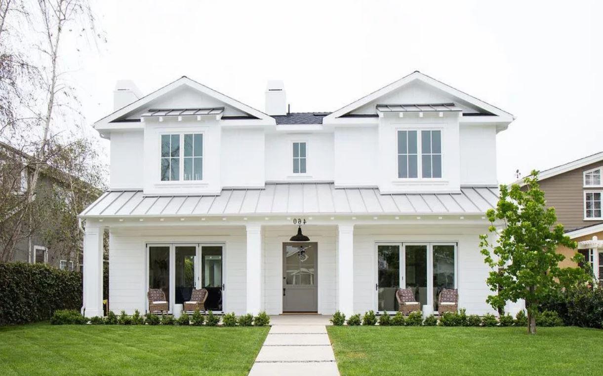 Fachadas de casas de madera pintadas de blanco 20 - Disenos casas de madera ...