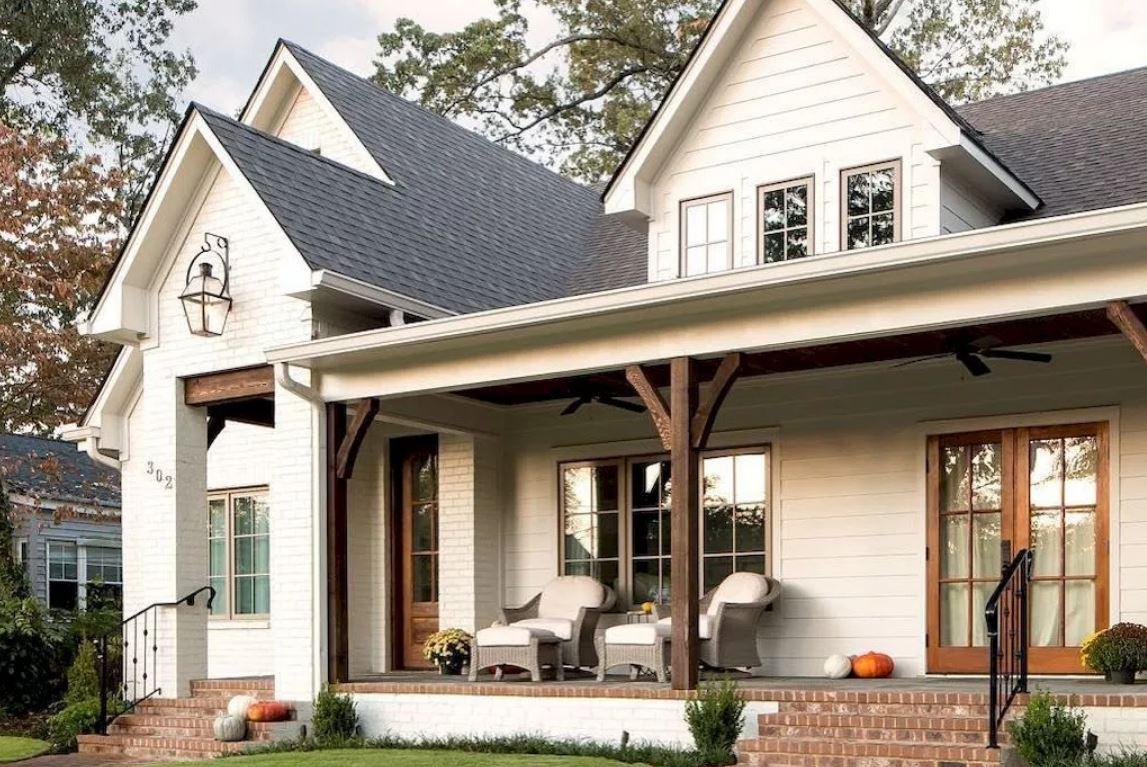 Fachadas de casas de madera pintadas de blanco 20 - Casa de madera ...