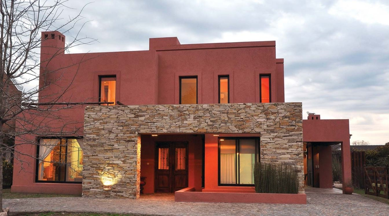 Fachadas de casas de color teja - Fachadas de casas clasicas ...