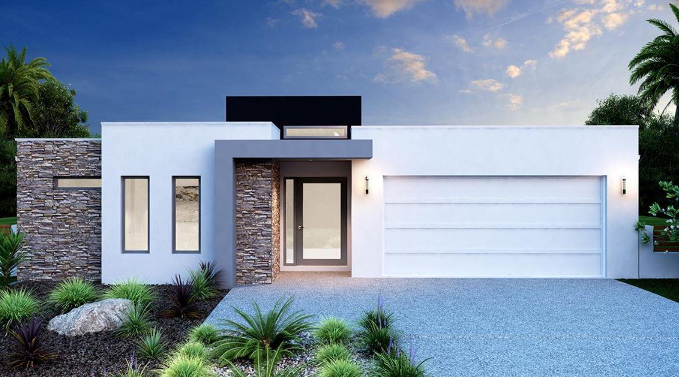 15 fachadas de casas modernas de una planta for Fachadas de casas pequenas de una planta
