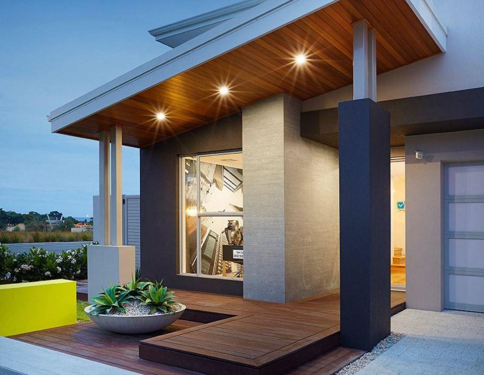 fachadas de entradas de casas modernas