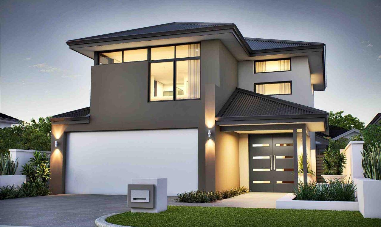 20 dise os de fachadas de casas con garaje - Casas modernas de diseno ...