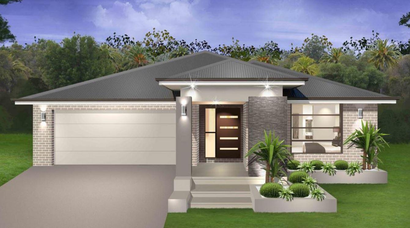 20 dise os de fachadas de casas con garaje for Disenos de casas pequenas con jardin
