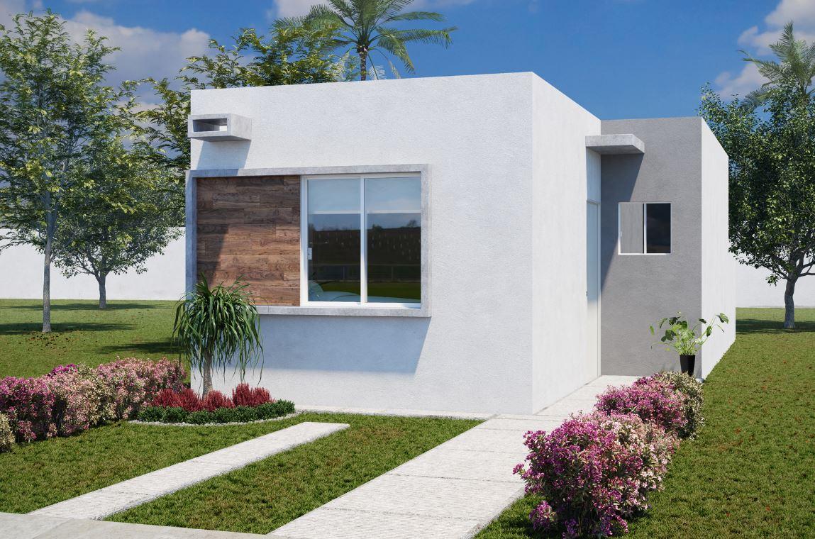 12 fachadas de casas sencillas for Fachadas modernas una planta