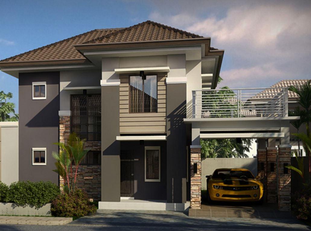 fachadas de casas largas 24 dise os de fachadas de casas dos pisos