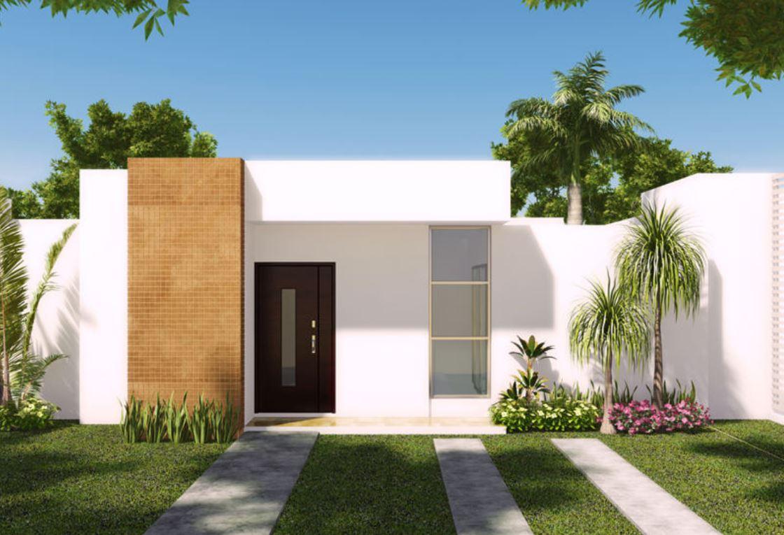 10 fachadas de casas blancas y modernas for Plantas minimalistas para exteriores