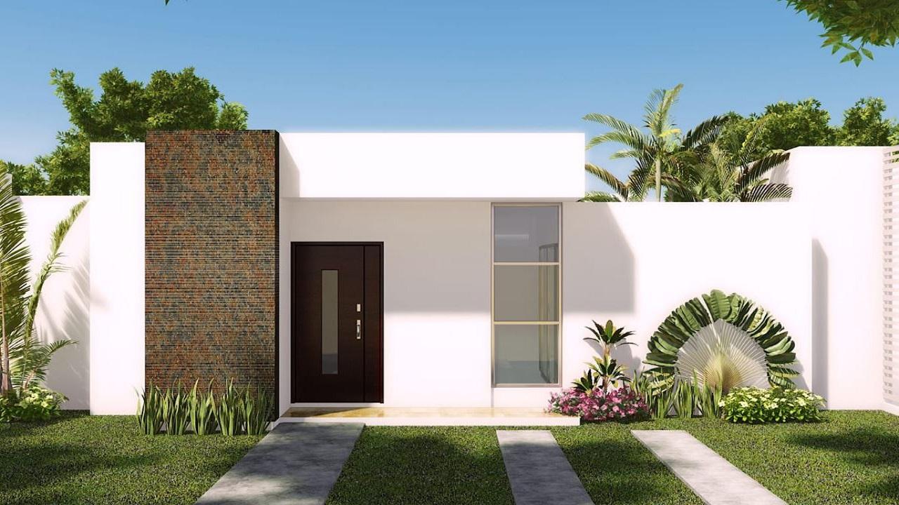 10 fachadas de casas blancas y modernas for Fachadas de casas modernas con piedra de una planta