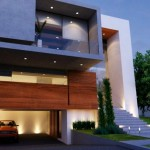Fachadas de casas con vidrio
