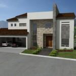 Fachadas de casas con cantera y teja