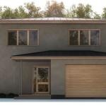 Fachadas de casas con cochera eléctrica