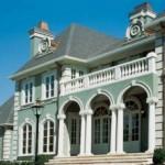 Fachadas de casas con columnas redondas
