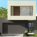 Fachada de casa simple y bonita