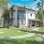 Fachadas de casas con piedra y pintura