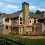 Fachadas de casas con chimenea