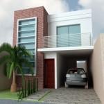 Fachadas de casas modernas de dos pisos sencillas