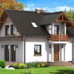 Fachadas de casas con balcon redondo