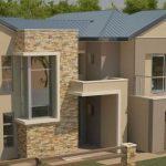 Fachadas de casas modernas con doble cochera