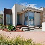 Fachadas de casas con piedra beige